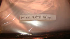 """100 Clear Plastic Outer Sleeves 6""""X8"""" 1.5 MIL"""