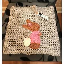 Hand crochet baby/toddler Peter Rabbit inspired Lily Bobtail blanket
