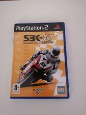 Playstation 2 ps2 Spiele sbk-07 Super Bike Weltmeisterschaft Motor GP Free p&p
