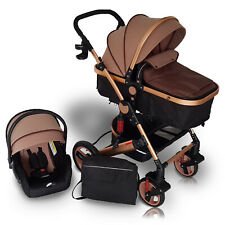 Kinderwagen 3in1 Kombi Komplettset Buggy Babywanne Babyschale Autositz Alu 500