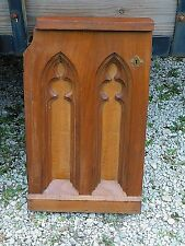 Victorian Antique Gothic Church carved Arched Communion Altar Architectural door