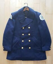 Vintage 1960's Men's 100% Wool Insulated Chicago Police Reefer Jacket