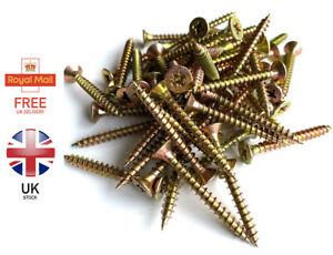 MULTI PURPOSE WOOD SCREWS POZI SIZES: 2.5 X 10mm - 6.0 X 40mm Free P&P