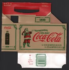 Coca Cola Cardboard 6-Pack Bottle Case - 2008 Circa 1899 Limited Edition Carrier