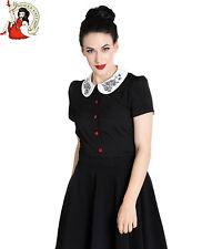HELL BUNNY THUMPER BLOUSE top bunny rabbit EASTER 50s shirt BLACK XS-4XL