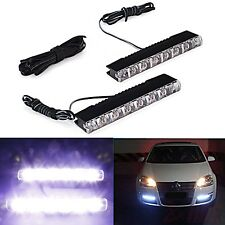 Universal Daytime Running Fog Light 6 LED White Car Driving Lamp Waterproof DRL