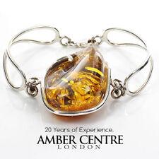 BALTIC AMBER BANGLE HANDMADE ELEGANT STYLISH 925 SILVER -BAN074 RRP £295!!!