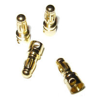 4x Male 3.5mm Gold Plated Banana Bullet Connector Plug battery ESC GPMM3112