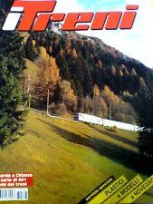 I Treni 187 1997 Inserto su Locomotiva a Vapore FS 691 + poster E 402