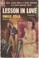 LESSON IN LOVE by Emile Zola (1959) World sleaze paperback (London)