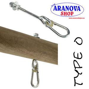 Yoga 2 Set Di ganci Resistenti Per Altalena In acciaio Inox 304 Girevoli a 180/° Amaca Con Viti Per Set in Legno Di Cemento Palestra