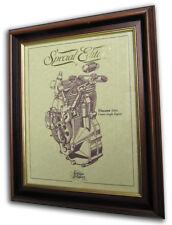 Vincent 500 Comet Gold Leaf Motorcycle Engine Drawing