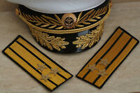 Russian Navy Shoulder straps NAVY captain of rank 1 brass Kant parade