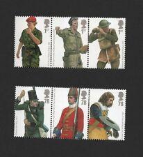 GB 2007 BRITISH ARMY UNIFORMS STAMP SET