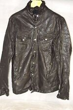 SUPER  BEAUTIFUL !!!  ALL SAINTS SLIM FITTED  MEN  BIKER LEATHER JACKET SHIRT M