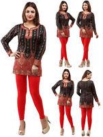 UK STOCK - Women Fashion Indian Short Kurti Tunic Kurta Top Shirt Dress 28B