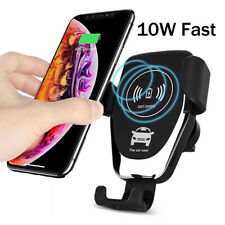 10W Fast Wireless Car Charger Mount Holder For Samsung S10 Huawei Mate20/P30 Pro