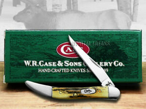 Case xx Toothpick Knife Genuine Sambar Stag Handle Stainless Pocket Knives 05532
