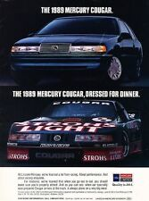 1989 Mercury Cougar Roush Race -  Original Advertisement Print Art Car Ad J575