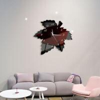 "12.6""*13.78"" Wall Clock Big Decal 3D Stickers Maple Shape DIY Wall Modern Home"