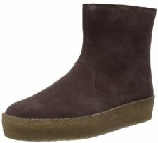 NEW WITH BOX CLARKS ORIGINALS JEZ ICE BROWN SUEDE WINTER ANKLE BOOTS UK5D 38