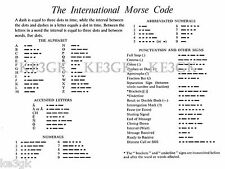 International Morse Code *  Large 13 x 19 Paper Print * Ham Radio * CW