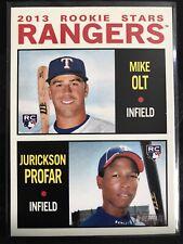 Jurickson Profar & Mike Olt Rangers Rookie Stars 2013 Topps Heritage 261 RC
