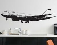 Large 747 Airplane Wall Decal Sticker by Stickerbrand. Flying Plane #6031