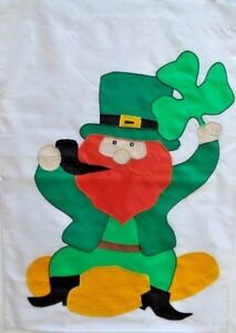 "Leprechaun on  Coins St. Pat's Standard House Flag by CBK, 28"" x 40"" #9483"