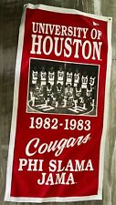 Houston Cougars Phi Slama Jama Basketball 1983 NCAA Banner