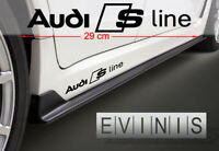 AUDI SLINE 2x Side Stickers Car Decals Graphics DEFAULT BLACK