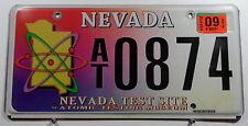 """USA Nummernschild aus Nevada """"NEVADA TEST SIDE"""" mit großer Grafik. 8865."""