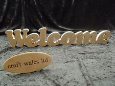 MDF Welcome Sign Plaque Words Letters Craft Gift Decorate Freestanding Alphabet