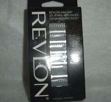 Revlon*Nail Art*3D Jewel Appliques~(18)Denim&D iamonds~#03 Stud-Struck~New~Boxed