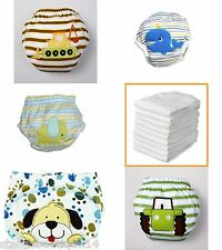 5 Boys Potty Training Pants Reusable Pull Ups and 5 Microfiber Insert Booster