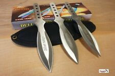 "6.5"" 3 PC Silver THROWING KNIFE SET JACK THE RIPPER  Tactical Military Combat"