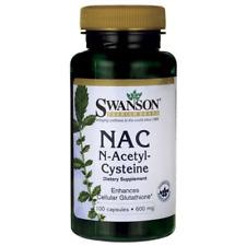 SWANSON PREMIUM NAC N-Acetyl Cysteine 600mg x100 capsules - UK SELLER