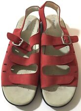 Propet Air Cell Cushion Leather Red Adjustable Sandals 13 N (AA)