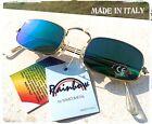 OCCHIALI DA SOLE SUNGLASSES VINTAGE RETTANGOLARE Teashades Hippie MADE IN ITALY