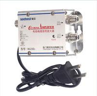 20DB Cable TV ANTENNA Booster Signal Amplifier Splitter HDTV AMP Household