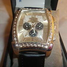 Men's Ice Star Quartz Watch Diamond Dial Illusion Water Resistant #3941 UNIQUE