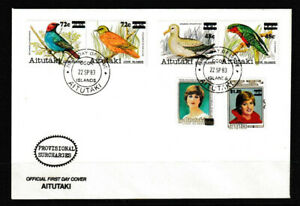 Aitutaki 1983 Bird/Royalty Series Of 1981-82 Surcharged Stamps FDC 1 - Mint
