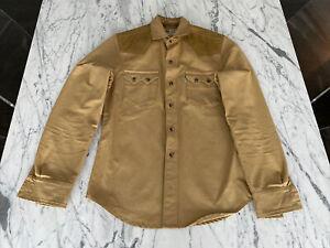 LEVI×FILSON WESTERN SAWTOOTH POCKET TAN SHIRT S OIL CLOTH YOKE trucker jacket