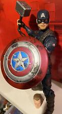 Marvel Legends Worthy Captain America Complete Loose w Mjolnir & Damaged Shield