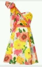 Coast prom dress yellow orange tiara printed Debenhams - size 12 UK/size 10 US M
