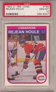 1982-83 OPC # 184 REJEAN HOULE PSA 10 GEM MT