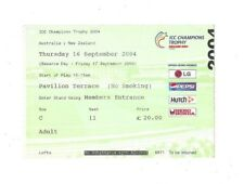 2004 - Australia v New Zealand, ICC Champions Trophy (Oval) Group Stage Ticket.