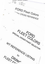 1970'S FORD TRUCK FLEET COLORS SPECIAL ORDER PAINT WT REFERENCE LISTING 4PGS  RE