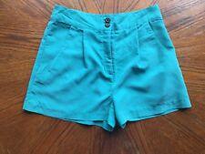Topshop Size 12 Green Shorts