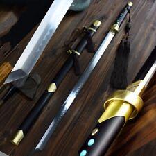 Dark night Battle Sword T10 Steel Blade Clay Tempered Sharp Battle ready #1248